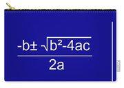 Quadratic Equation Blue-white Carry-all Pouch