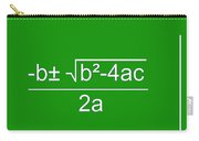 Quadratic Equation Green-white Carry-all Pouch