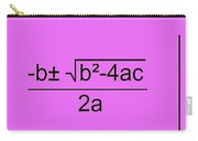 Quadratic Equation Pink-black Carry-all Pouch