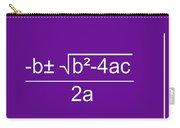 Quadratic Equation Violet-white Carry-all Pouch