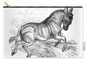 Quagga, Historical Illustration, 1874 Carry-all Pouch