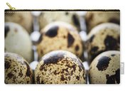 Quail Eggs Carry-all Pouch by Elena Elisseeva