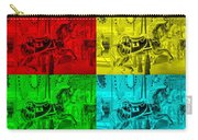 Quad Color Horses Carry-all Pouch