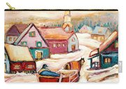 Quebec City Street Scene Caleche Ride In The Village Carry-all Pouch