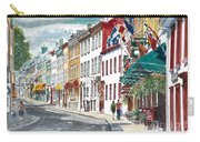 Quebec Old City Canada Carry-all Pouch by Anthony Butera