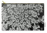 Queen Anne's Lace In Black And White Carry-all Pouch