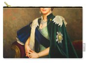 Queen Elizabeth II Portrait - Oil On Canvas Carry-all Pouch