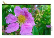 Queen Flower Or Giant Crepe Myrtle Flower Carry-all Pouch by Lanjee Chee