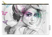 Queen Of Butterflies Carry-all Pouch by Olga Shvartsur