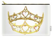 Queen Of Hearts Crown Tiara By Kristie Hubler Carry-all Pouch