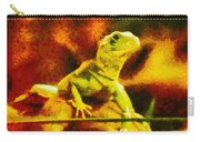 Queen Of The Reptiles Carry-all Pouch by Ayse Deniz