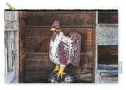 Quiet Rooster Wood Carved Carry-all Pouch