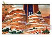 Quiet Snowfall  Sedona  Arizona Carry-all Pouch