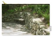 Bench In A Stone Wall Carry-all Pouch
