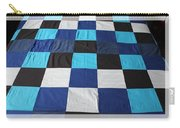 Quilt Blue Blocks Carry-all Pouch by Barbara Griffin