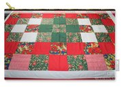 Quilt Christmas Blocks Carry-all Pouch by Barbara Griffin