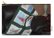 Quilt Newfoundland Tartan Green Posts Carry-all Pouch by Barbara Griffin