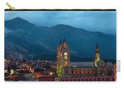 Quito Basilica At Night Carry-all Pouch