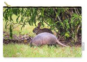 Rabbit And Armadillo Carry-all Pouch