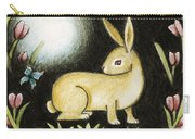 Rabbit And The Butterfly . . . From The Tapestry Series Carry-all Pouch
