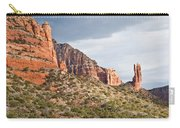 Rabbit Ears Spire At Sunset Carry-all Pouch