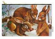 Rabbits In Snow Carry-all Pouch