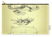 Race Car Track With Race Car Retaining Means Patent 1968 Carry-all Pouch