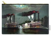 Race Of The Steamers Robert E Lee And Natchez Carry-all Pouch