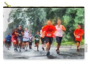 Racing In The Rain Carry-all Pouch by Susan Savad