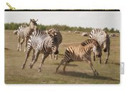 Racing Zebras 1 In Color Carry-all Pouch
