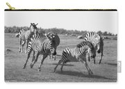 Racing Zebras 1 Carry-all Pouch