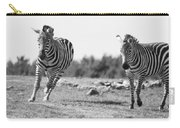 Racing Zebras Carry-all Pouch