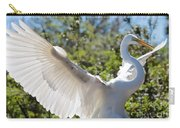 Radiant Great Egret Carry-all Pouch