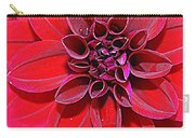 Radiant In Red - Dahlia Carry-all Pouch