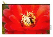 Radiant Red Cactus Flower Carry-all Pouch