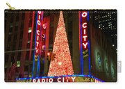 Radio City At Christmas Time - Holiday And Christmas Card Carry-all Pouch