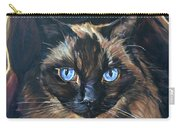 Cat Painting. Ragdoll Cat The Cat's In The Bag Carry-all Pouch