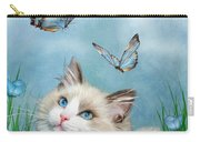 Ragdoll Kitty And Butterflies Carry-all Pouch