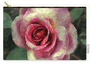 Ragged Satin Rose Carry-all Pouch