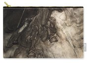Raging, Wotan Rides To The Rock! Like Carry-all Pouch by Arthur Rackham