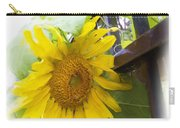 Railed Sunflower Carry-all Pouch