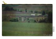 Railroad Bridge At Rosalia Texture Carry-all Pouch