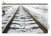 Railroad In Snow Carry-all Pouch