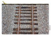 Railroad Track With Gravel Bed Carry-all Pouch