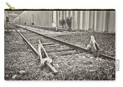 Railroad Tracks Bw Carry-all Pouch