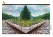 Railroad Tracks Photo Art Carry-all Pouch