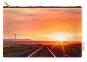 Rails To The Red Sky Carry-all Pouch