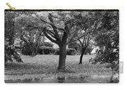 Rain And Leaf Ave In Black And White Carry-all Pouch