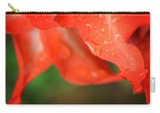 Rain Dance - Red Flower Photography By Sharon Cummings Carry-all Pouch