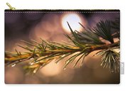 Rain Droplets On Pine Needles Carry-all Pouch by Loriental Photography